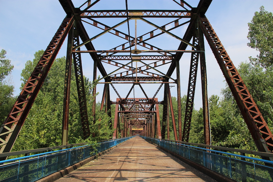 Old Chain of Rocks Bridge along Illinois Route 66 Trail in Madison | Photo by C Hanchey | CC by 2.0