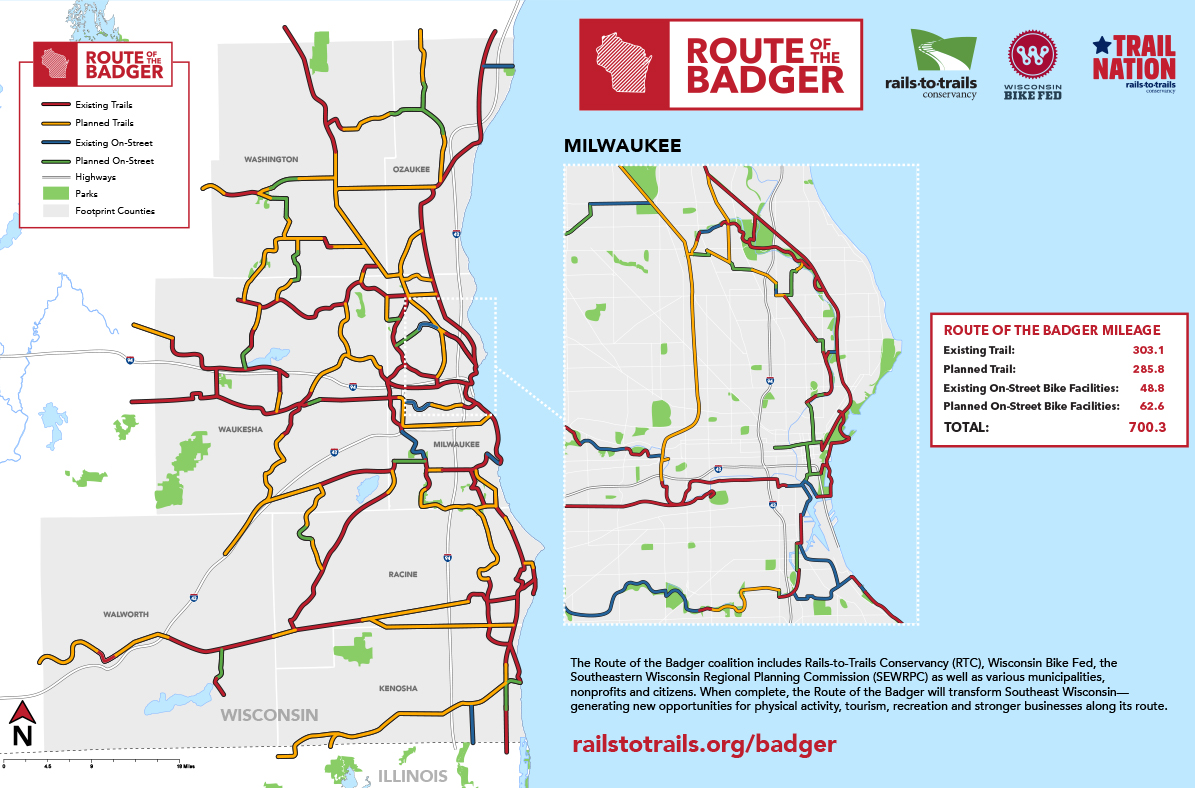 Route of the Badger Map