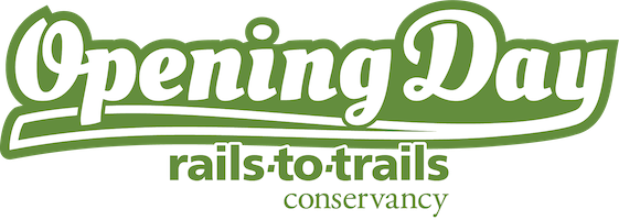 Opening Day for Trails evergreen logo
