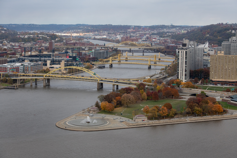 A view of Point State Park and the Three Rivers Heritage Trail | Photo by Justin Merriman