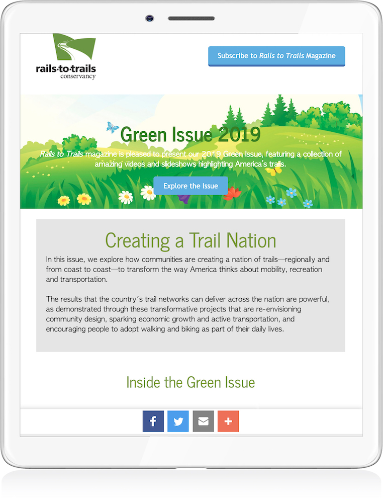 Green Issue 2019 on Tablet