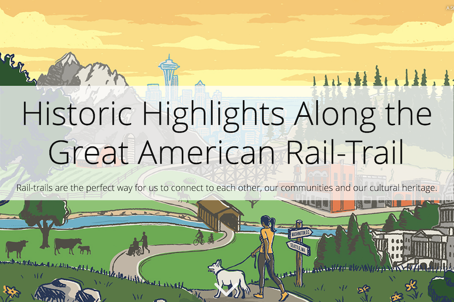 Historic Highlights on the Great American Rail-Trail Storymap
