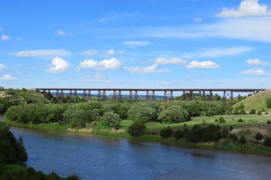 Niobrara River bridge near Valentine, Nebraska, along the Cowboy Trail | Photo by Eric Foster