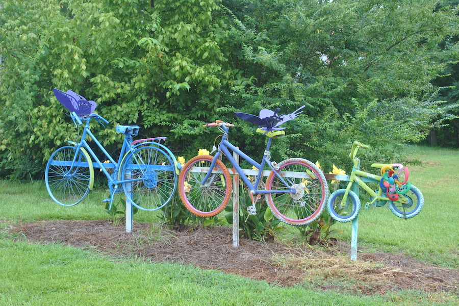 Bicycle sculptures along the Tanglefoot Trail | Photo by Ellen Russell