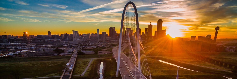 Ronald Kirk Pedestrian Bridge (left) and the Margaret Hunt Hill Bridge over the Trinity Skyline Trail in Dallas, Texas | iStock