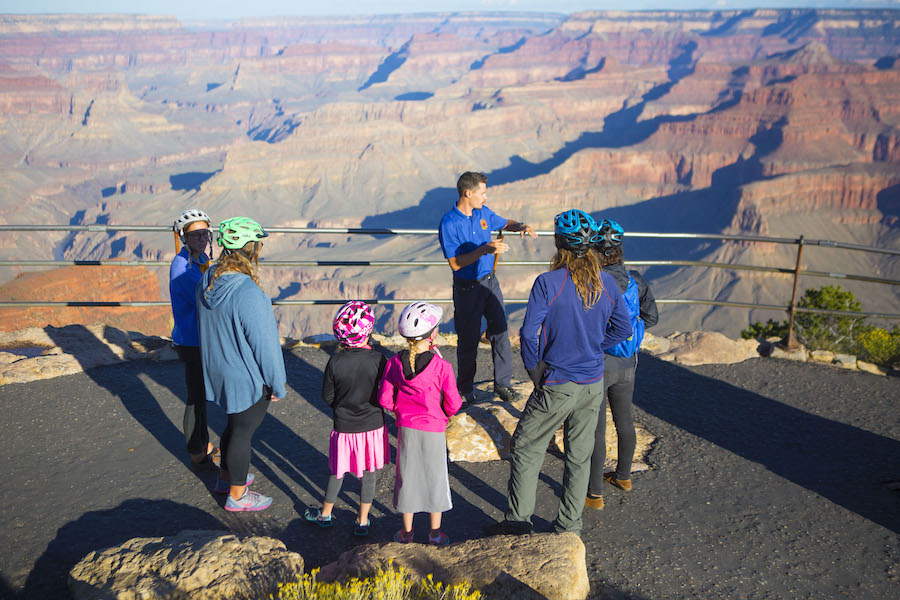 A stop along the Grand Canyon Greenway Trail