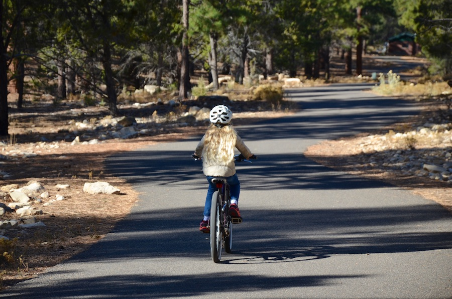 Biker on Grand Canyon Greenway Trail