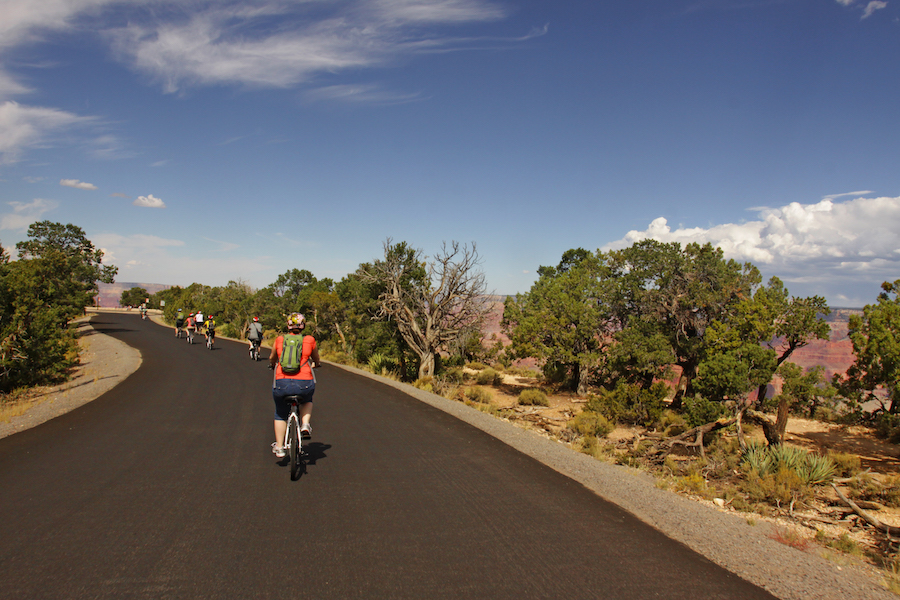 Pedaling along the Grand Canyon Greenway Trail