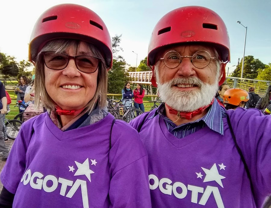 Long-time trail advocates Frank Henson and Mary Messman from Cincinnati in Bogota | Photo courtesy RTC