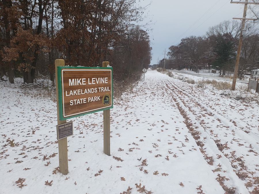 Mike Levine Lakelands Trail State Park | Photo courtesy Michigan DNR