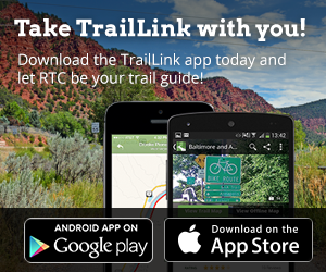 TrailLink is a free app in Apple App Store and Google Play