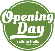 Opening Day for Trails evergreen badge