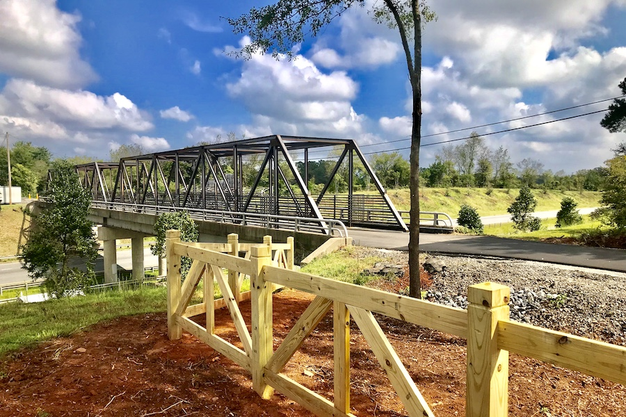 Thermal Belt Rail Trail bridge over Highway 74 | Photo by Steve Garrison