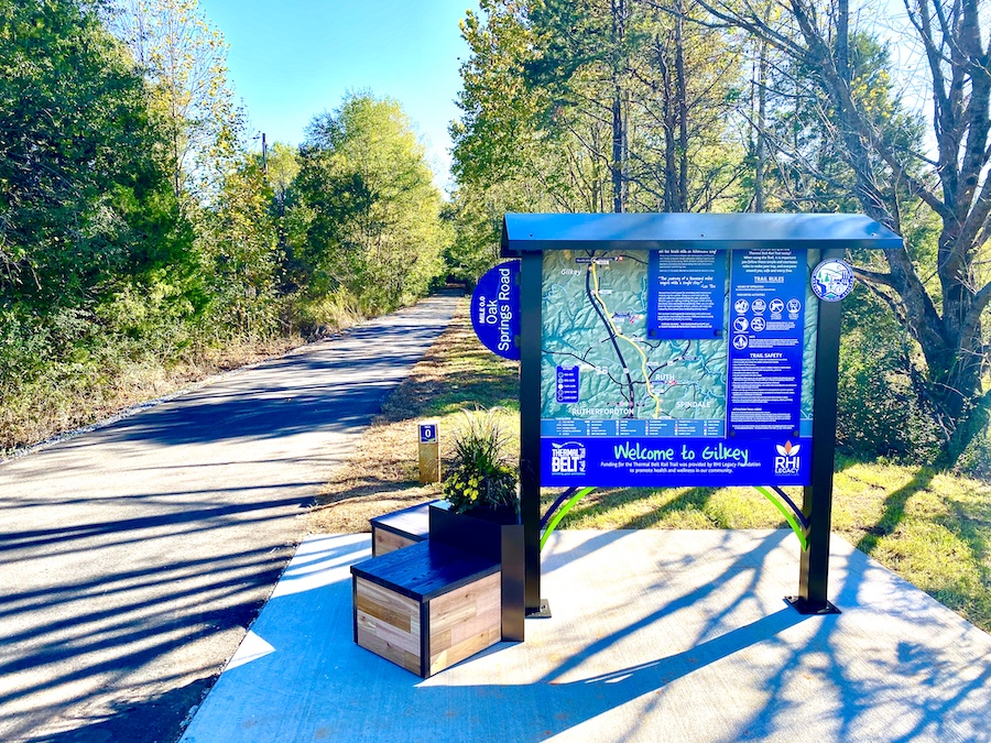 Thermal Belt Rail Trail trailhead | Photo by Steve Garrison