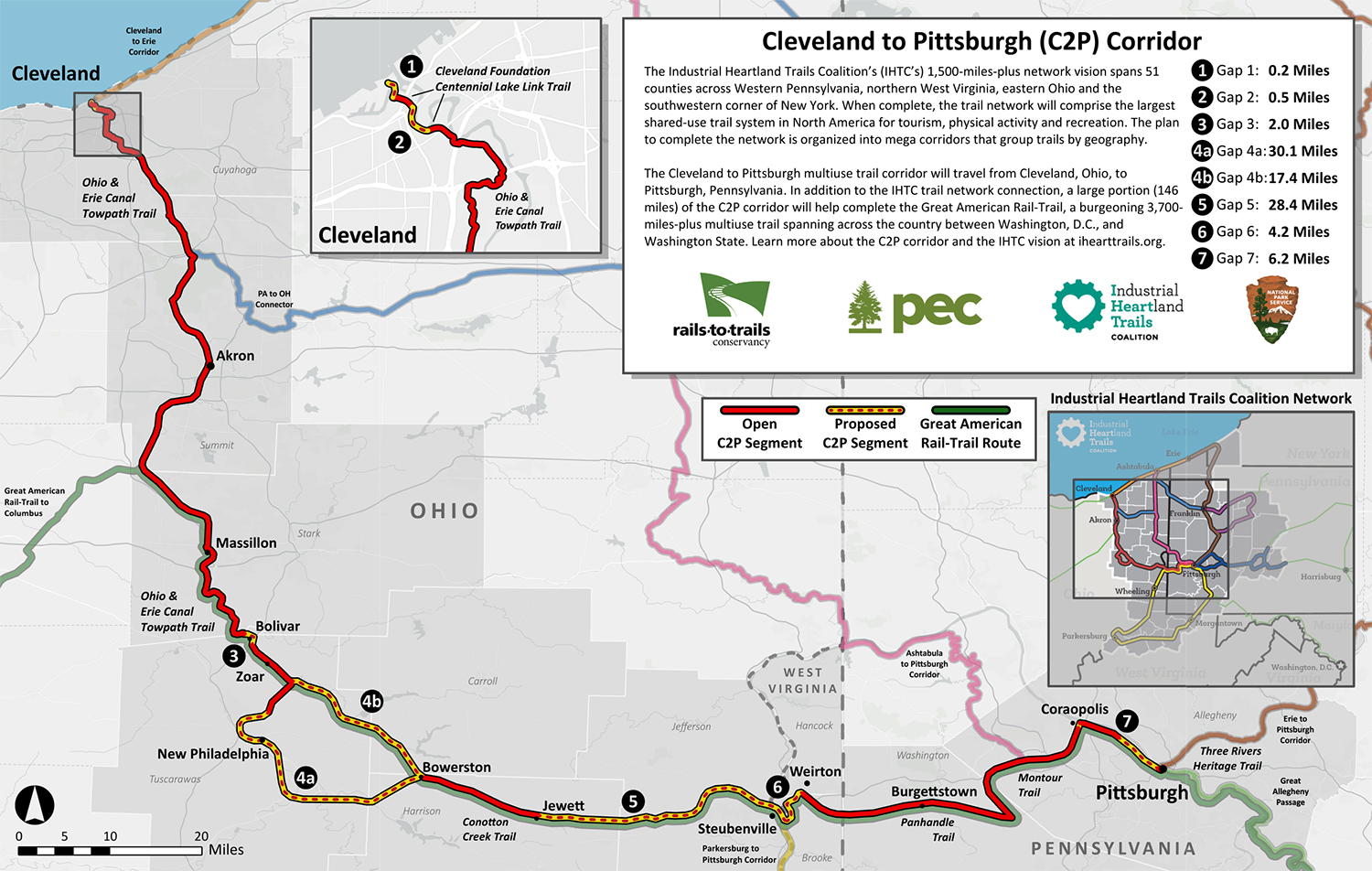 Cleveland to Pittsburgh (C2P) Corridor map