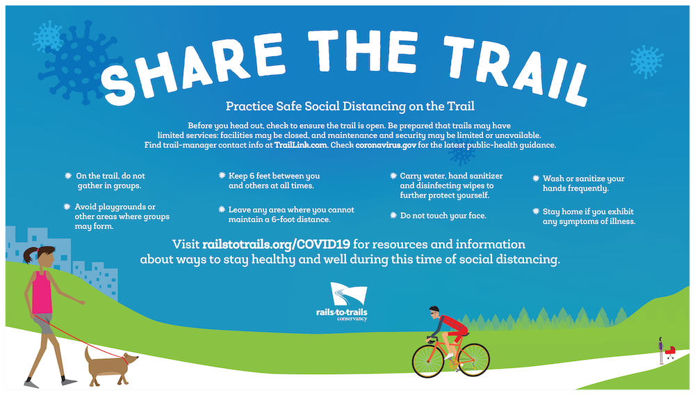 Share the Trail graphic about COVID-19