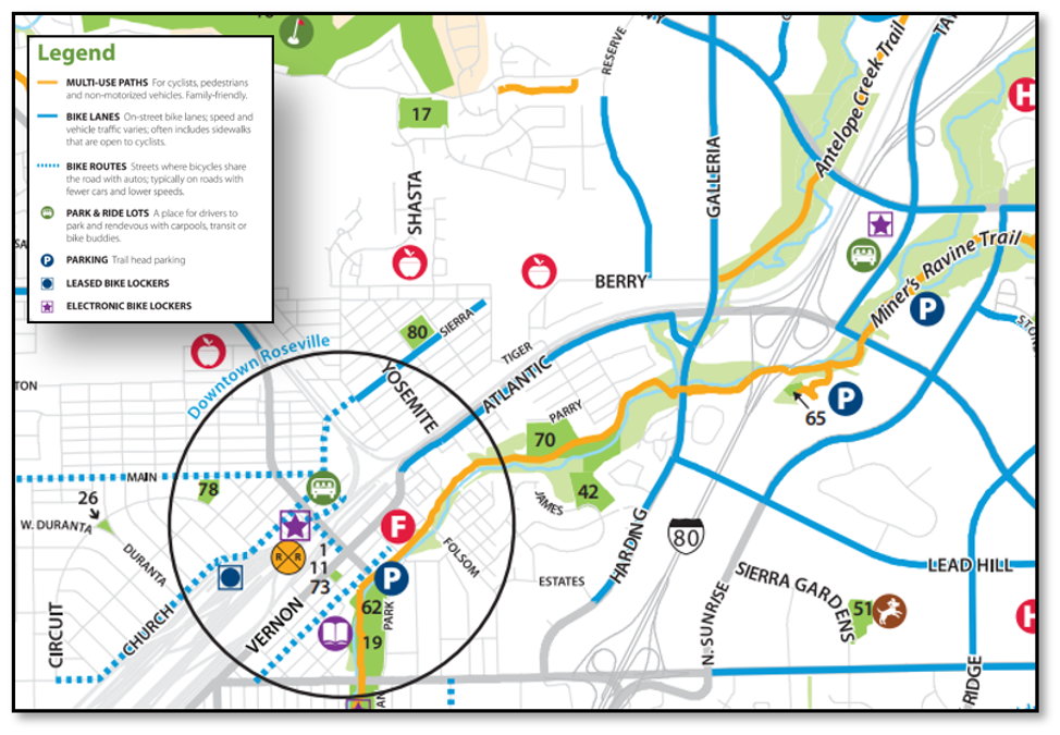 Source Roseville Parks, Trails & Bikeways Map (Updated September 2019)