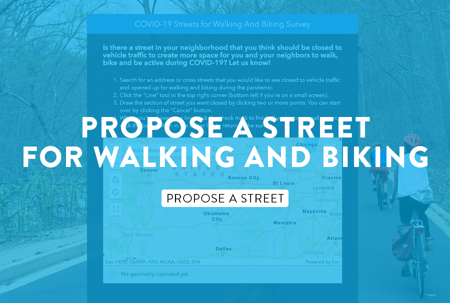 Propose Streets for Walking and Biking graphic