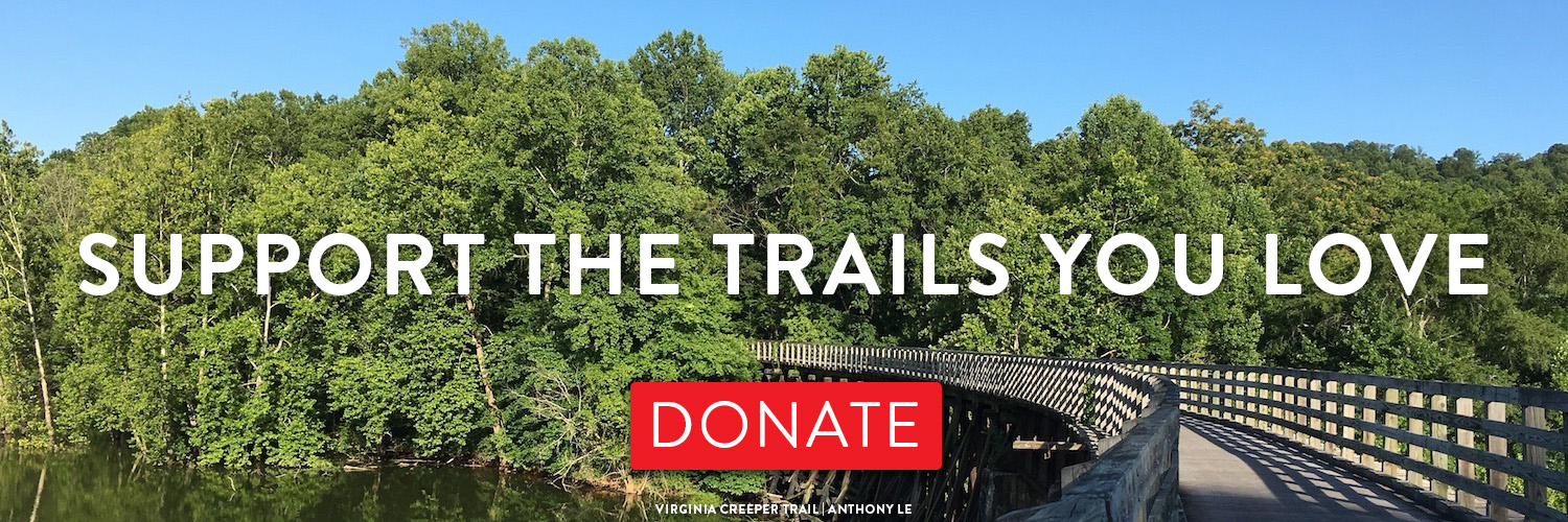 Support the Trails You Love by donating to RTC banner