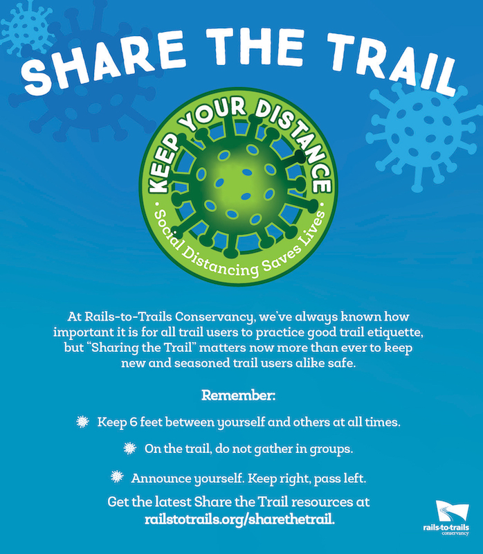 Share the Trail PSA Blue