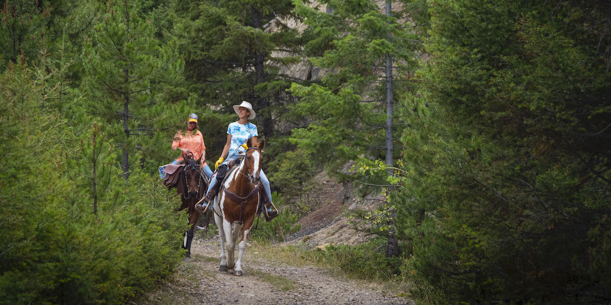 A horseback ride through Thompson Park | Photo by Preston Keres, courtesy USDA Forest Service