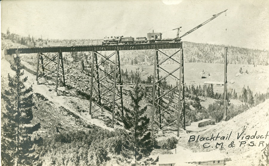 Blacktail Viaduct | Courtesy Montana Historical Society