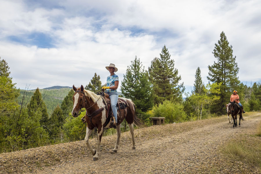 Horseback riders | Photo by Preston Keres, courtesy USDA Forest Service