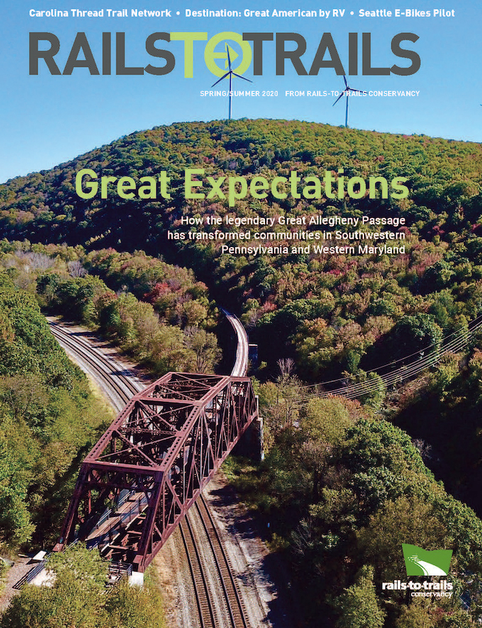 Rails To Trails Magazine 2020 Spring/Summer cover