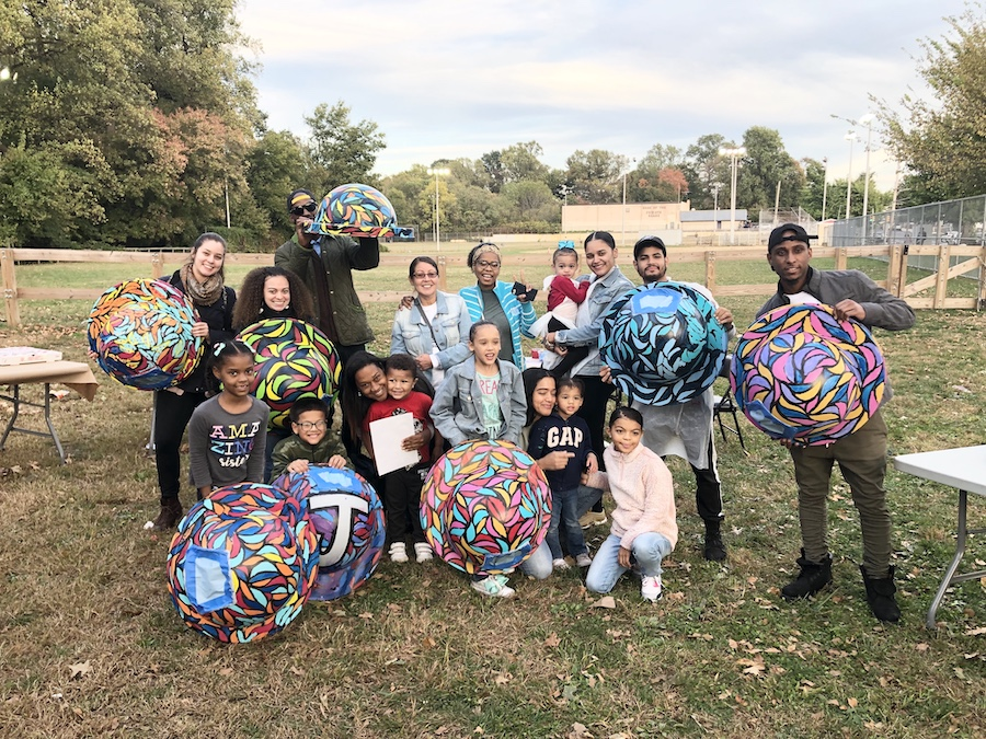 Community Painting Day with artist Jay Coreano for the Community Cans Program | Courtesy Tookany-Tacony-Frankford Watershed Partnership, Inc.