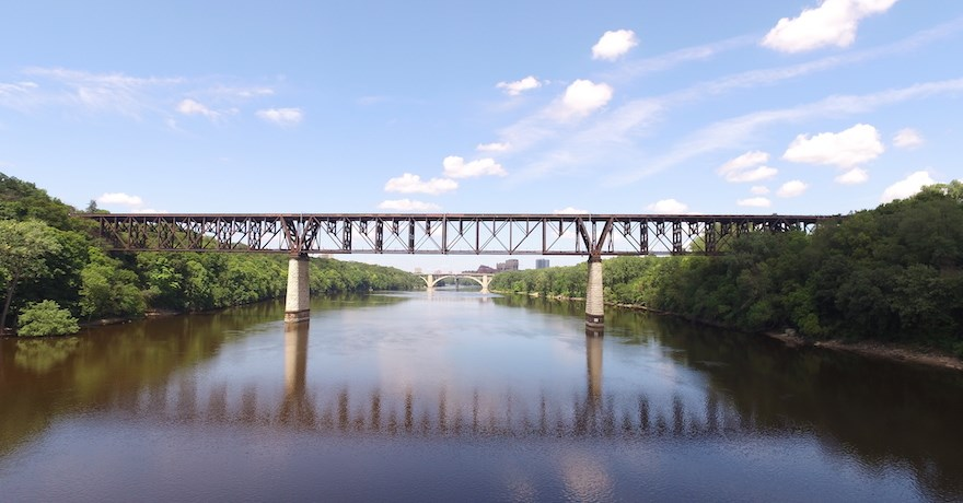 Potential Midtown Greenway extension over the Mississippi River in Minnesota | Photo courtesy Midtown Greenways Coalition