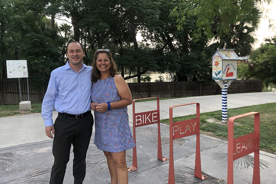 Ryan Chao and Dr. Rose Gowen along a trail in Brownsville, Texas | Courtesy RTC