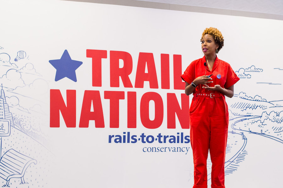 Vanessa Garrison at 2018 TrailNation Summit | Photo courtesy RTC