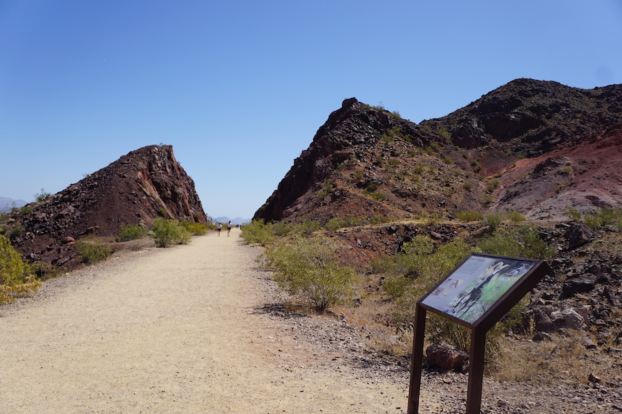 Volcanic rock cut along the Historic Railroad Trail | Photo by Cindy Barks