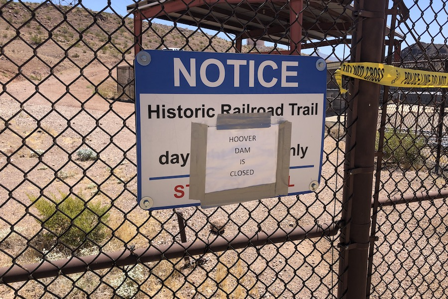 Hoover Dam section of the Historic Railroad Trail, currently closed (as of July 2020) due to COVID-19 | Photo by Cindy Barks