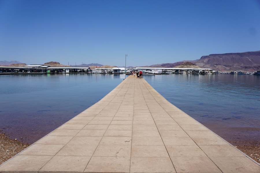 Lake Mead Marina near the Historic Railroad Trail | Photo by Cindy Barks