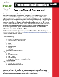 Transportation Alternatives Program Manual Development Guide