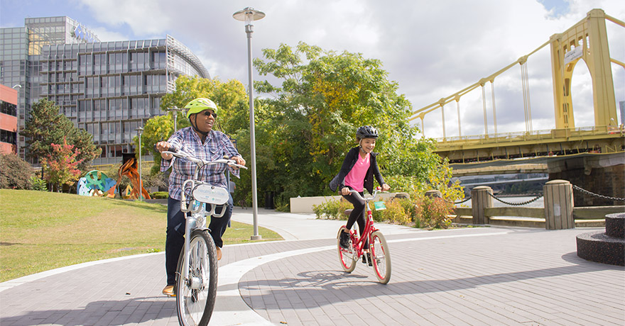 Three Rivers Heritage Trail | Photo by Healthy Ride, Pittsburgh Bike Share
