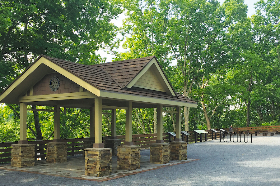 Rotary pavilion and education center along the trail | Courtesy Tweetsie Trail Conservancy