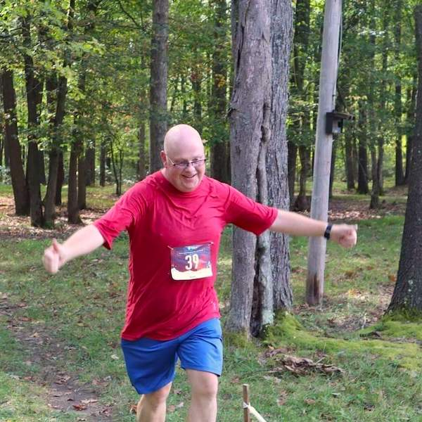 Vincent Viars completing his first 5K trail run | Courtesy Vincent Viars