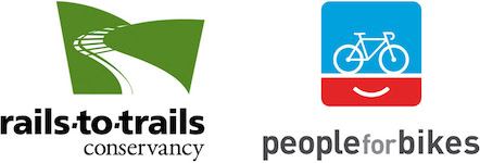 Rails-to-Trails Conservancy and PeopleForBikes logos