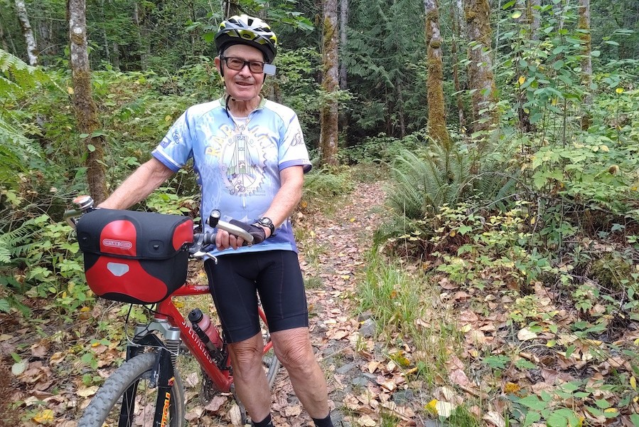 Bicycling advocate Bob Myrick on a trail in Washington State | Photo courtesy Bob Myrick