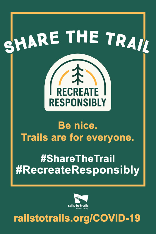 Share the Trail and Recreate Responsibility graphic