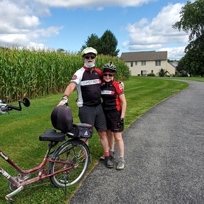 Joel and Linn Kring near the Kissel Hill Commons Trail in Lancaster County, Pennsylvania | Courtesy Joel Kring