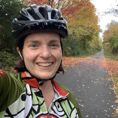 Amy on Ohio's Roberts Pass Trail | Amy Collins-Warfield
