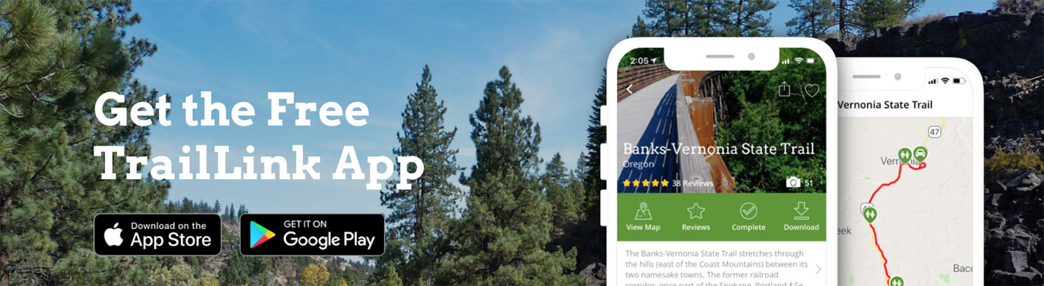 TrailLink App by Rails-to-Trails Conservancy Banner